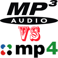 mikä on ero mp3 ja mp4